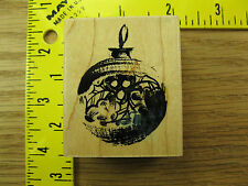 Rubber Stamp Holiday Decor Christmas Ornament Penny Black Stampinsisters #1565