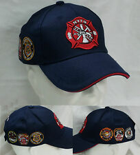 CAPPELLO BLU CON VISIERA N.Y.F.D. NEW YORK FIRE DEPARTMENT TAGLIA UNICA BERRETTO