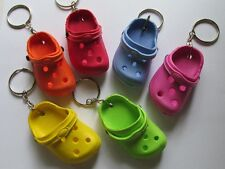 12 CROCS KEYCHAINS croc shoe clog key chains FREE SHIP really CUTE