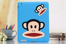 3D Cute Cartoon Monkey King Shock Proof Soft Silicon Case Cover for iPad 2/3/4