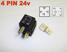 24 VOLT 4 PIN 20/30 AMP AUTOMOTIVE RELAY CHANGEOVER WITH BRACKET ( 2 )