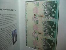 Malaysia RM5 x3pcs (3 in 1 single) Uncut, UNC, with original folder