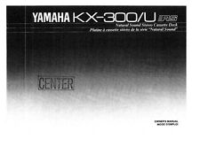 Yamaha Kx-330 Cassette Deck Owners Manual