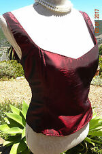 BEAUTIFUL VINTAGE RED BODICE, LACE UP BACK, SIZE 14, GOTHIC, STEAMPUNK VICTORIAN