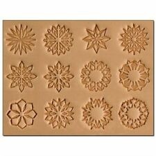 Geometric Stamps Set of 12 + Handle by Tandy Leather 8163-00  **FREE SHIPPING