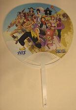 One Piece - promotional paper fan - ventaglio tradizionale in carta - RARE
