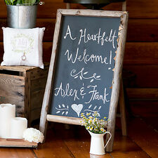 Large Self-Standing Chalkboard Sign with Rustic Wood Frame Wedding Decoration