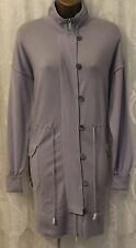 Karen Millen Pale Blue Wool Mix Long Sleeve Coatigan Zip Cardigan Coat 3 12 40