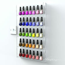 Wall Mounted Acrylic Nail Polish Display Stand Varnish Shop Retail 40-50 Bottles