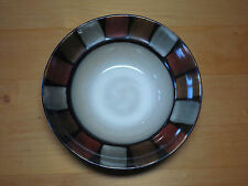 """Pfaltzgraff Everyday TAOS Set of 5 Soup Cereal Bowls 8 1/2"""" Brown Black"""