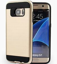Samsung Galaxy S7 & S7 EDGE Case Hybrid 2-1 Brushed Shockproof Heavy Duty Cover