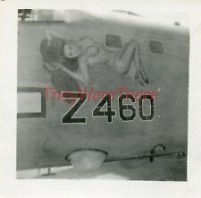WWII photo- B-24/PB4Y Liberator Bomber plane Nose Art- NUDE RISQUE GIRL- Z460