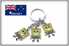 3 in 1 Sponge Bob Enamel Metal Keyring Key Holder Party Loot Bag Filler