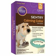 SENTRY Calming Collar for Dogs , 3 Pack, New, Free Shipping