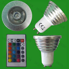 3W Remote Control RGB Colour Changing LED Spotlight Light Bulb GU10 Party Lamp