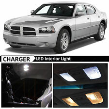 10x White Interior LED Light Package Kit for 2006-2010 Dodge Charger