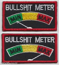 Bulls**t Meter MIN MAX Embroidered Crest Badge Patch Army RAF - MOD Approved