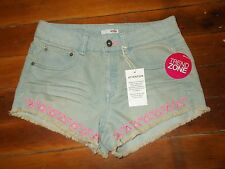 Bongo Denim Short Shorts Women's Juniors Size 5 NEW NWT Neon Triangle Cut Outs