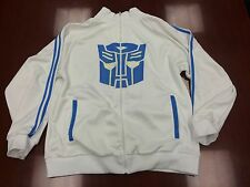 Transformers Hasbro 2007 Autobots White Full Zip Track Jacket Coat Men's Size L