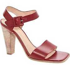 BNWOB Celine Red leather cone heel sandals size EU  37.5, UK 4.5