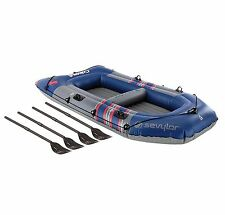 NEW! SEVYLOR 3391 Colossus Inflatable 4 Person Boat Raft w/ Oars | 2000014140