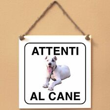 Bully Kutta 1 Attenti al cane Targa piastrella cartello ceramic tiles