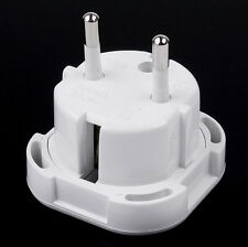 UK TO EU European Gener Travel Adapter AC Power Plug Socket 2Pin Converter WH