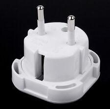 UK TO EU European Gener Travel Adapter AC Power Plug Socket 2Pin Converter WH