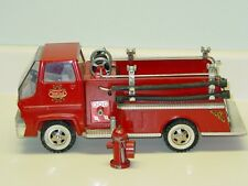 Vintage Tonka Snorkel Fire Truck, Pressed Steel Toy Vehicle, With Hydrant, Origi