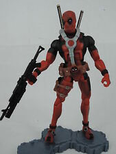 Marvel legends Red DEADPOOL LOOSE figure RARE with base offer