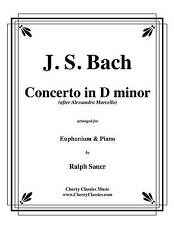 BACH CONCERTO in D Minor for Euphonium & Piano arr. by Ralph Sauer