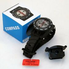 Wrist Compass With Hose Mount Waterproof Underwater For Snuba Diving Camping