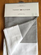 Pair 2 Tommy Hilfiger Cabana Stripe Window Curtain Panel Drape White Gray  84