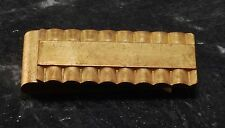 Vintage Collectible Antique Brass Tubular Design Money Clip New Old Stock