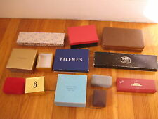Vintage Lot presentation JEWELRY BOXES designer jeweller ring display antique
