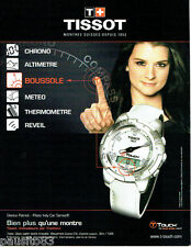 PUBLICITE ADVERTISING 046  2008  Tissot  montre Touch & Danica Patrick  polote