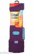 Ladies Wellington Boot Gardening Heat Holder Socks 4-8 Uk, 37-40 Eur, Purple Vel