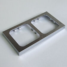 CHROME DOUBLE TWIN FACEPLATE FRAME for C-LINE CBE SOCKETS. MOTORHOME CARAVAN