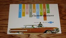 1960 Chevrolet Custom Feature Accessories Sales Brochure 60 Chevy