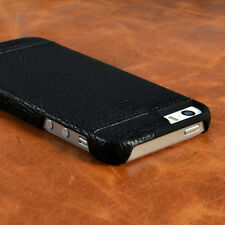 PIERRE CARDIN Black Genuine Leather Cover Hard Back Case For Apple iPhone 5G/5S