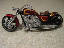 IRON CHOPPER MOTORCYCLE DIE CAST 1:18 SCALE WORKING STEERING FREEWHEELING RED