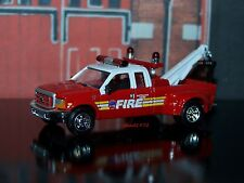 1999 FORD F-350 FIRE DEPARTMENT TOW TRUCK 1/64 SCALE DIECAST COLLECTIBLE MODEL