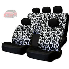 NEW COOL SKULL DESIGN FRONT AND REAR CAR SEAT COVERS SET FOR HONDA