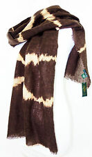 LAUREN Jeans Co. Ralph Lauren  Wool Tie Dye Striped Scarf  Brown  NWT $58