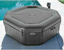 120 Bubble Jets 4 Person Octagonal Spa Hot Tub Built-in Hard Water Treatment New