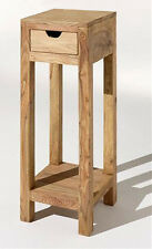 ZEN JALI SHEESHAM 30X30X75H SIDE LAMP TABLE/ PLANT STAND/ 100% REAL WOOD