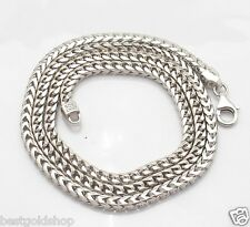 "22"" 24"" 4.8mm Mens Solid Franco Chain Necklace Real Sterling Silver 925 58gr"