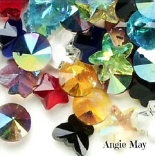 Wholesale 50* Pretty Multicolored Crystal Glass Charms