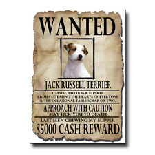 JACK RUSSELL Wanted Poster FRIDGE MAGNET New DOG