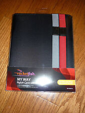 NEW ROCKETFISH MY WAY Nylon Case with Stand fits iPad 2/3/4 RF-PD3NY13
